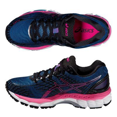 Asics Gel-Nimbus 17 Ladies Running Shoes - Blue Pink - Alternative View