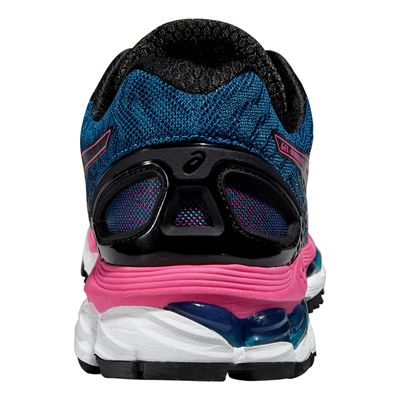 Asics Gel-Nimbus 17 Ladies Running Shoes - Blue Pink - Back View