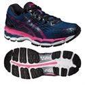 Asics Gel-Nimbus 17 Ladies Running Shoes - Blue Pink