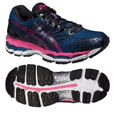 Asics Gel-Nimbus 17 Ladies Running Shoes - Blue Pink