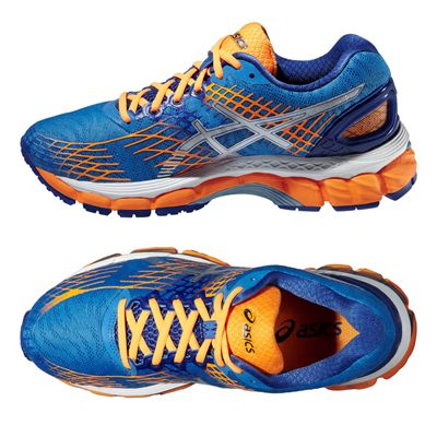 Asics Gel-Nimbus 17 Ladies Running Shoes - Blue Silver Orange - Alternative View