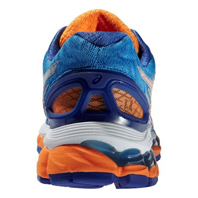 Asics Gel-Nimbus 17 Ladies Running Shoes - Blue Silver Orange - Back View