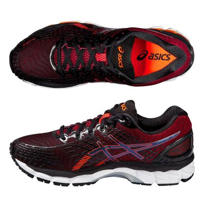Asics Gel-Nimbus 17 Mens Running Shoes-Black and Red - Alternative View