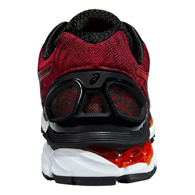 Asics Gel-Nimbus 17 Mens Running Shoes-Black and Red - Back View