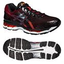Asics Gel-Nimbus 17 Mens Running Shoes-Black and Red