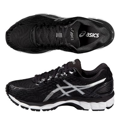 Asics Gel-Nimbus 17 Mens Running Shoes - Black White - Alternative View