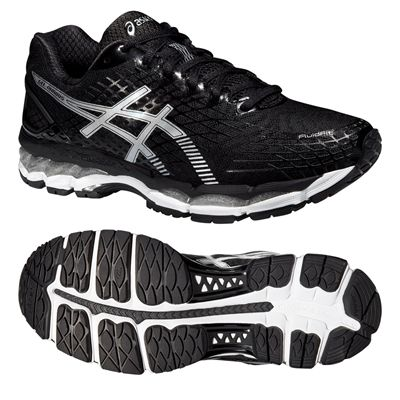 Asics Gel-Nimbus 17 Mens Running Shoes - Black White