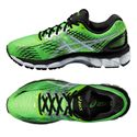 Asics Gel-Nimbus 17 Mens Running Shoes - Green White Black - Alternative View