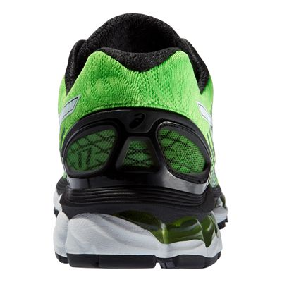 Asics Gel-Nimbus 17 Mens Running Shoes - Green White Black - Back View