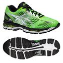 Asics Gel-Nimbus 17 Mens Running Shoes - Green White Black