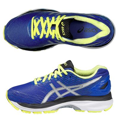 Asics Gel-Nimbus 18 Ladies Running Shoes-Purple and Silver and Green-Alternative View