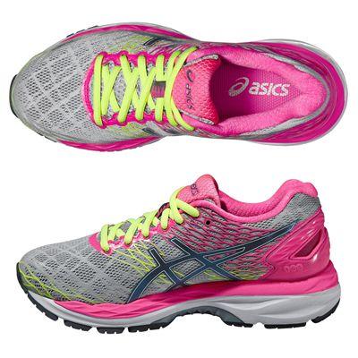 Asics Gel-Nimbus 18 Ladies Running Shoes-Silver and Pink-Alternative View
