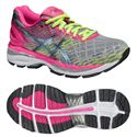 Asics Gel-Nimbus 18 Ladies Running Shoes-Silver and Pink