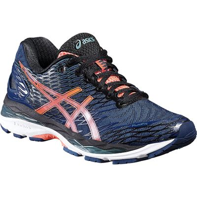 Asics Gel-Nimbus 18 Ladies Running Shoes-Blue/Orange-Alternative