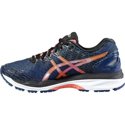 Asics Gel-Nimbus 18 Ladies Running Shoes-Blue/Orange-Side