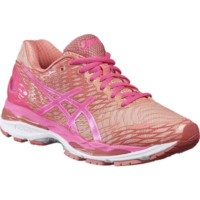 Asics Gel-Nimbus 18 Ladies Running Shoes-Pink/Orange-Alternative