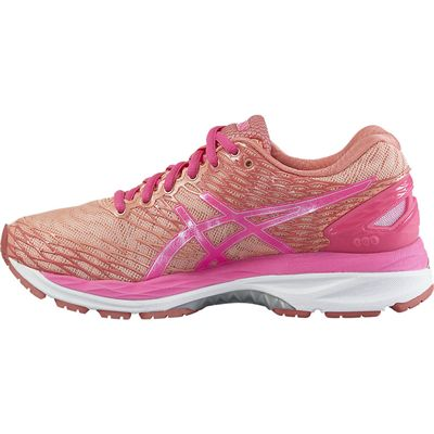 Asics Gel-Nimbus 18 Ladies Running Shoes-Pink/Orange-Side