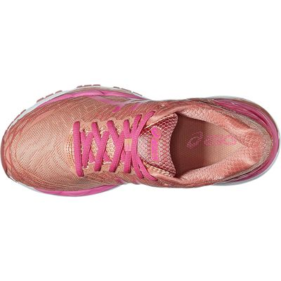 Asics Gel-Nimbus 18 Ladies Running Shoes-Pink/Orange-Top