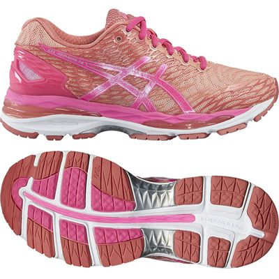 Asics Gel-Nimbus 18 Ladies Running Shoes-Pink/Orange