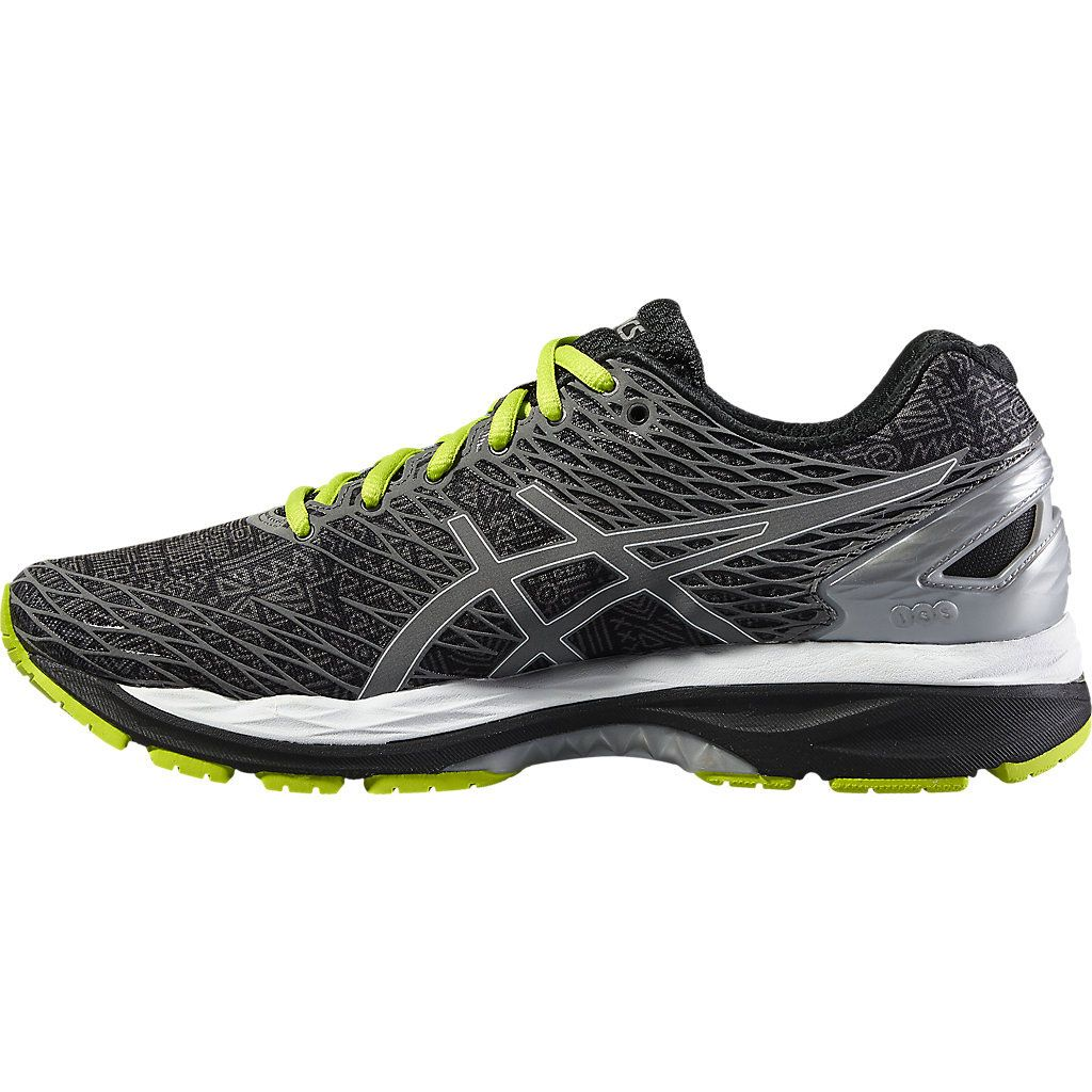 asics gel nimbus 18 lite show mens running shoes