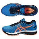 Asics Gel-Nimbus 18 Mens Running Shoes-Blue and Orange and Black-Alternative View