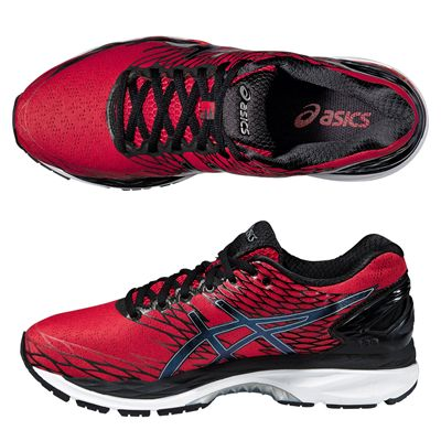 Asics Gel-Nimbus 18 Mens Running Shoes-Red and Black and Silver-Alternative View