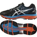 Asics Gel-Nimbus 18 Mens Running Shoes-Black/Silver/Blue