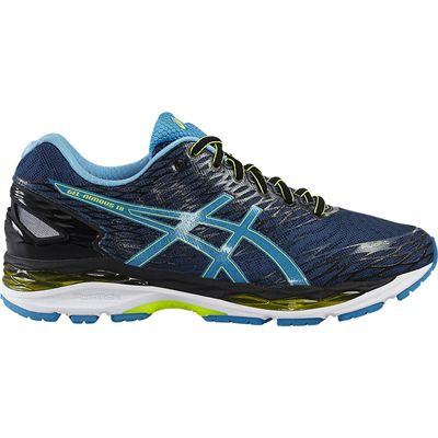 Asics Gel-Nimbus 18 Mens Running Shoes-Navy/Blue/Green-Side
