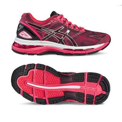 Asics Gel-Nimbus 19 Ladies Running Shoes-black-main