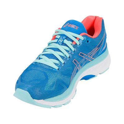Asics Gel-Nimbus 19 Ladies Running Shoes-blue-front
