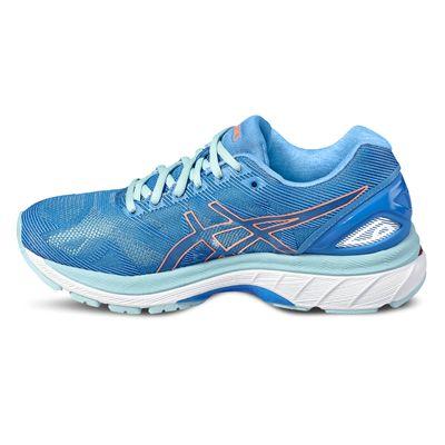 Asics Gel-Nimbus 19 Ladies Running Shoes-blue-side