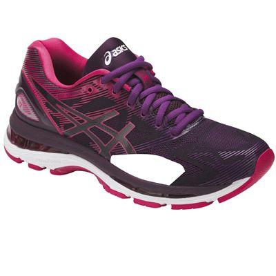 Asics Gel-Nimbus 19 Ladies Running Shoes AW17 - Black/Angled1