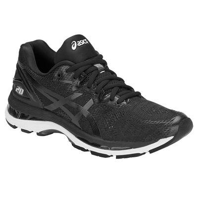 Asics Gel-Nimbus 20 Ladies Running Shoes - Black - Angled