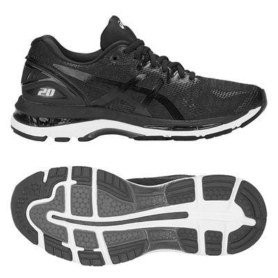 Asics Gel-Nimbus 20 Ladies Running Shoes - Black