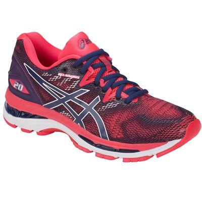 Asics Gel-Nimbus 20 Ladies Running Shoes AW18 - Pink - Angled2