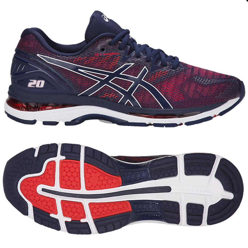 asics gel nimbus 20 mens running shoes blue 9 uk