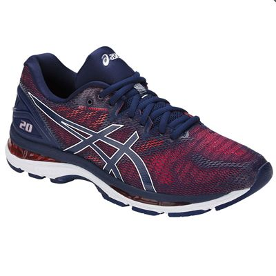 Asics Gel-Nimbus 20 Mens Running Shoes - Blue - Angled