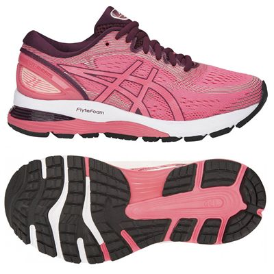 Asics Gel-Nimbus 21 Ladies Running Shoes - Pink