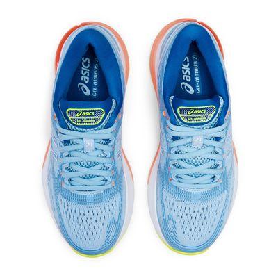Asics Gel-Nimbus 21 Ladies Running Shoes AW19 - Blue - Above