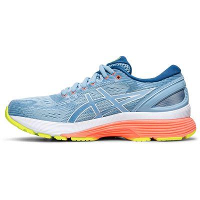 Asics Gel-Nimbus 21 Ladies Running Shoes AW19 - Blue - Side