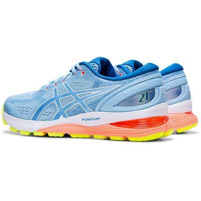 Asics Gel-Nimbus 21 Ladies Running Shoes AW19 - Blue - Slant