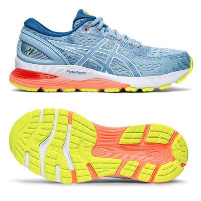 Asics Gel-Nimbus 21 Ladies Running Shoes AW19 - Blue