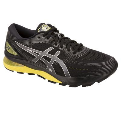 Asics Gel-Nimbus 21 Mens Running Shoes - Black - Angle