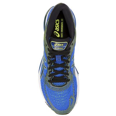 Asics Gel-Nimbus 21 Mens Running Shoes - Blue - Above