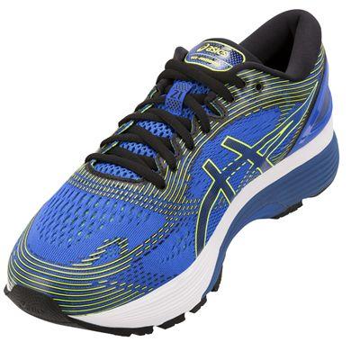 Asics Gel-Nimbus 21 Mens Running Shoes - Blue - Angle2