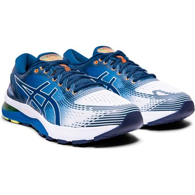 Asics Gel-Nimbus 21 Mens Running Shoes AW19 - Blue - Angled