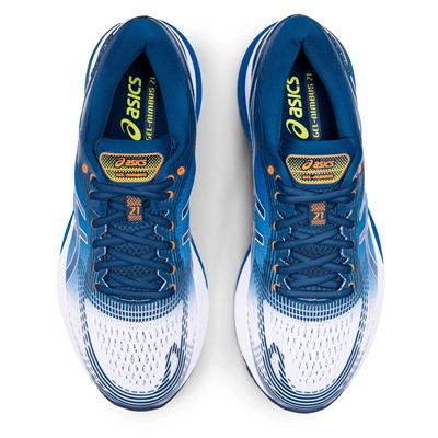 Asics Gel-Nimbus 21 Mens Running Shoes AW19 - Blue - Above