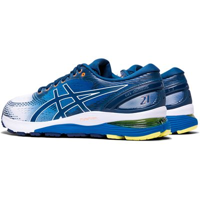 Asics Gel-Nimbus 21 Mens Running Shoes AW19 - Blue - Back