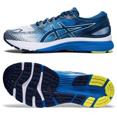 Asics Gel-Nimbus 21 Mens Running Shoes AW19 - Blue