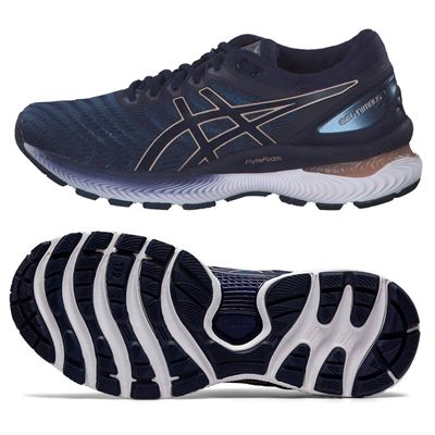 Asics Gel-Nimbus 22 Ladies Running Shoes - Navy